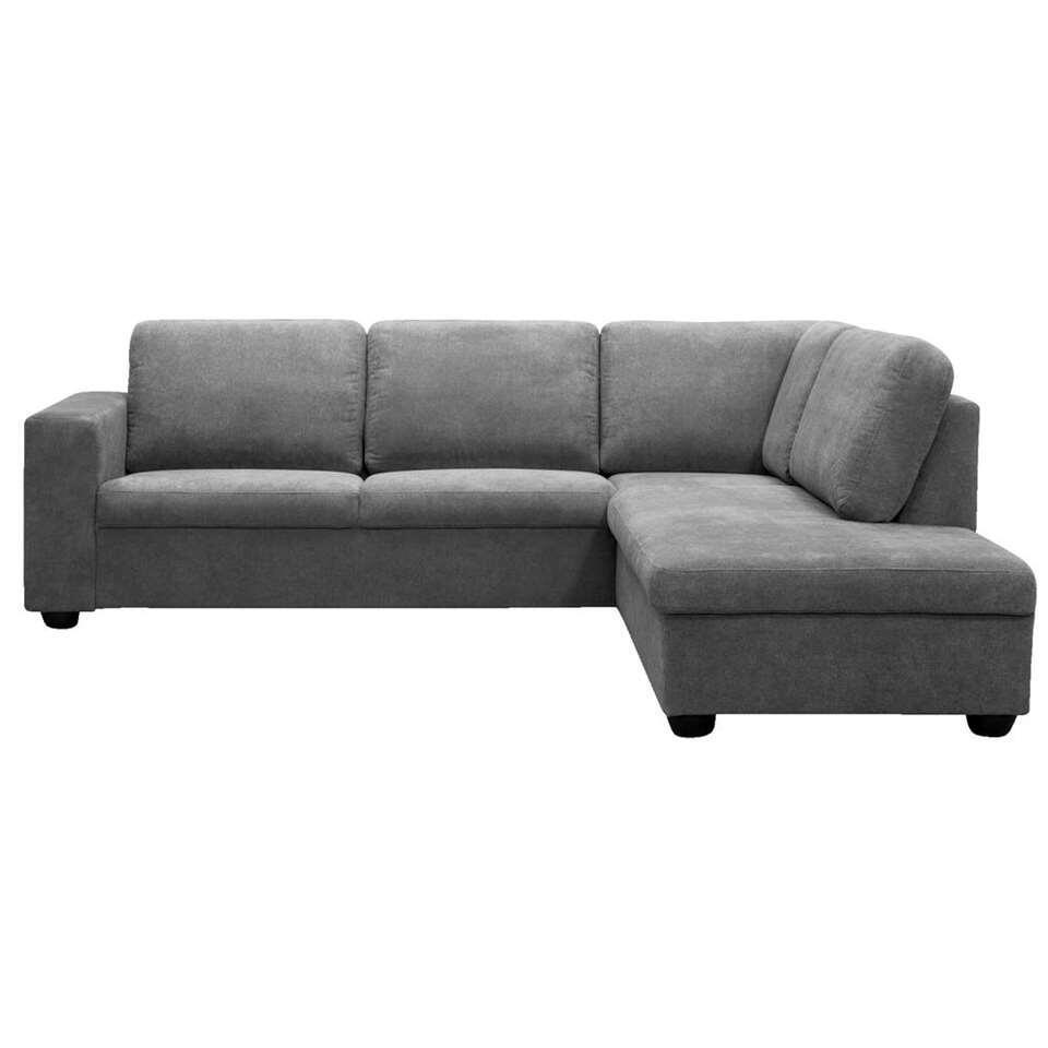 Canapé d'angle Baz droite - couleur pierre