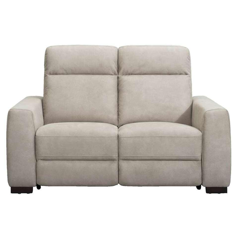 Canapé réglable James 2 places - gris couleur argent