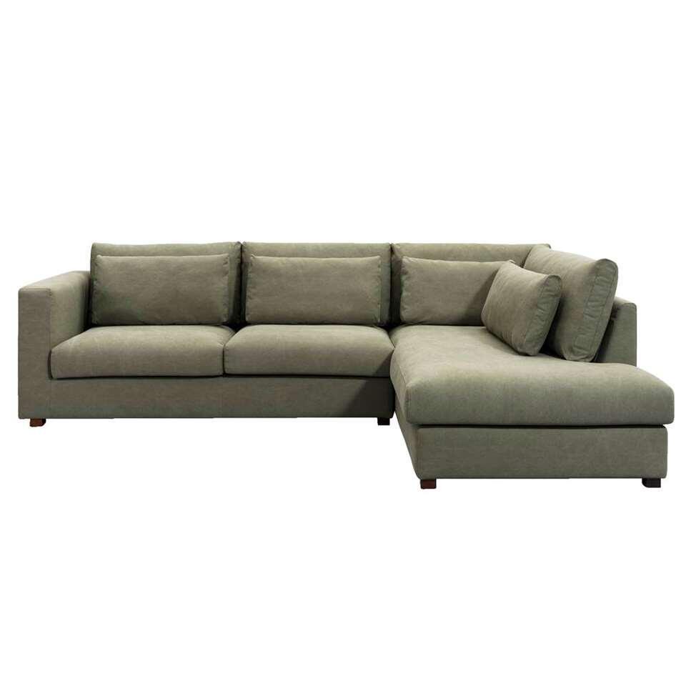 UMIX canapé d'angle Chelsea angle à droite  vert olive
