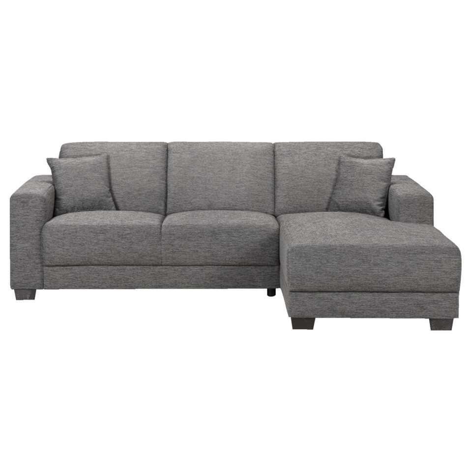 Canapé d'angle Aberdeen - gris-tissu - angle 4é droite