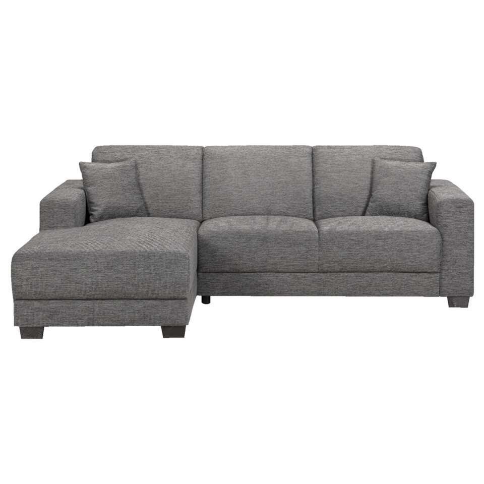 Canapé d'angle Aberdeen - gris-tissu - angle 4é gauche