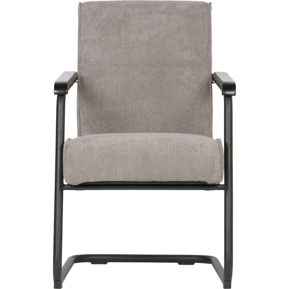 Woood fauteuil Micha - tissu côtelé - vert fumé
