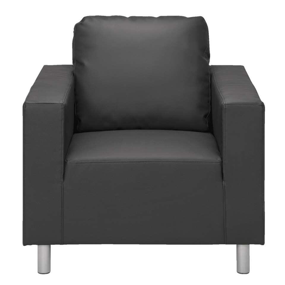 Fauteuil New York est recouvert de simili cuir et a 4 pieds solides. Ce fauteuil sobre a un look robuste. Le fauteuil est insalissable et inusable et offre des années de plaisir.