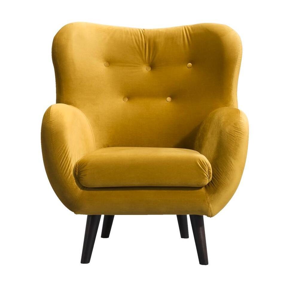 Fauteuil Viborg - tissu - geel