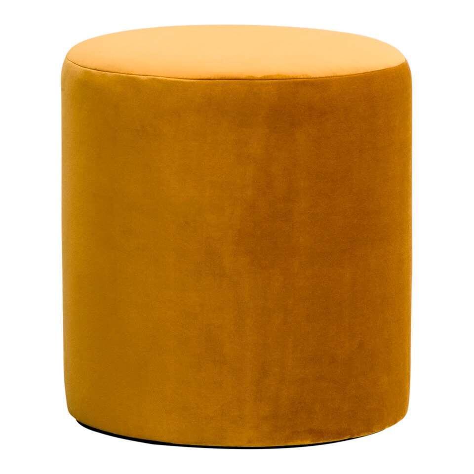 Hocker Wenen is een ronde hocker in de kleur geel. Deze hocker heeft een doorsnee van 37 cm en een hoogte van 40 cm. Deze hocker is een aanwinst voor uw interieur.