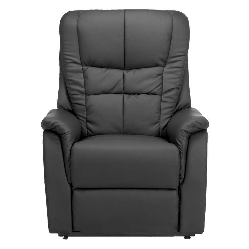 Fauteuil relax Arizona - aspect cuir - noir