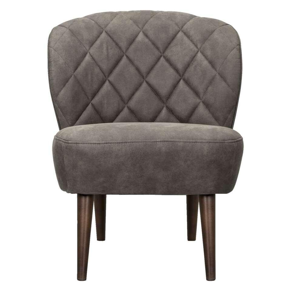 Fauteuil Vita - aspect cuir - anthracite