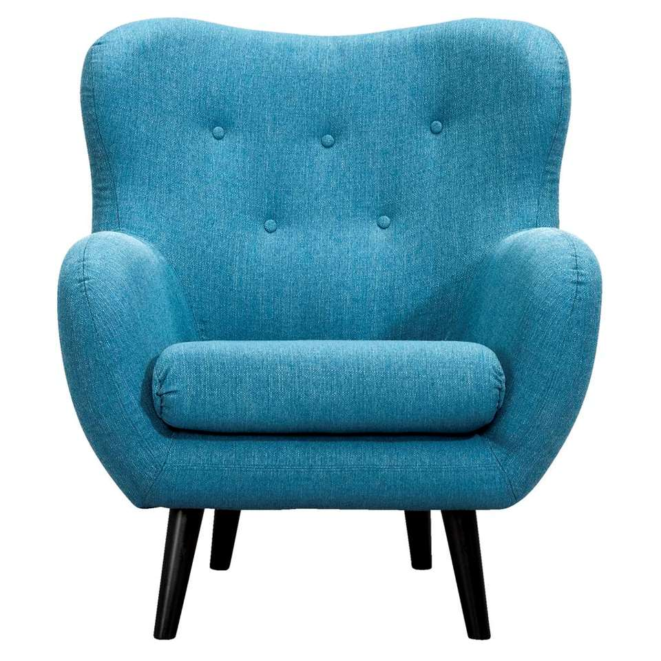 Fauteuil Viborg - tissu - turquoise