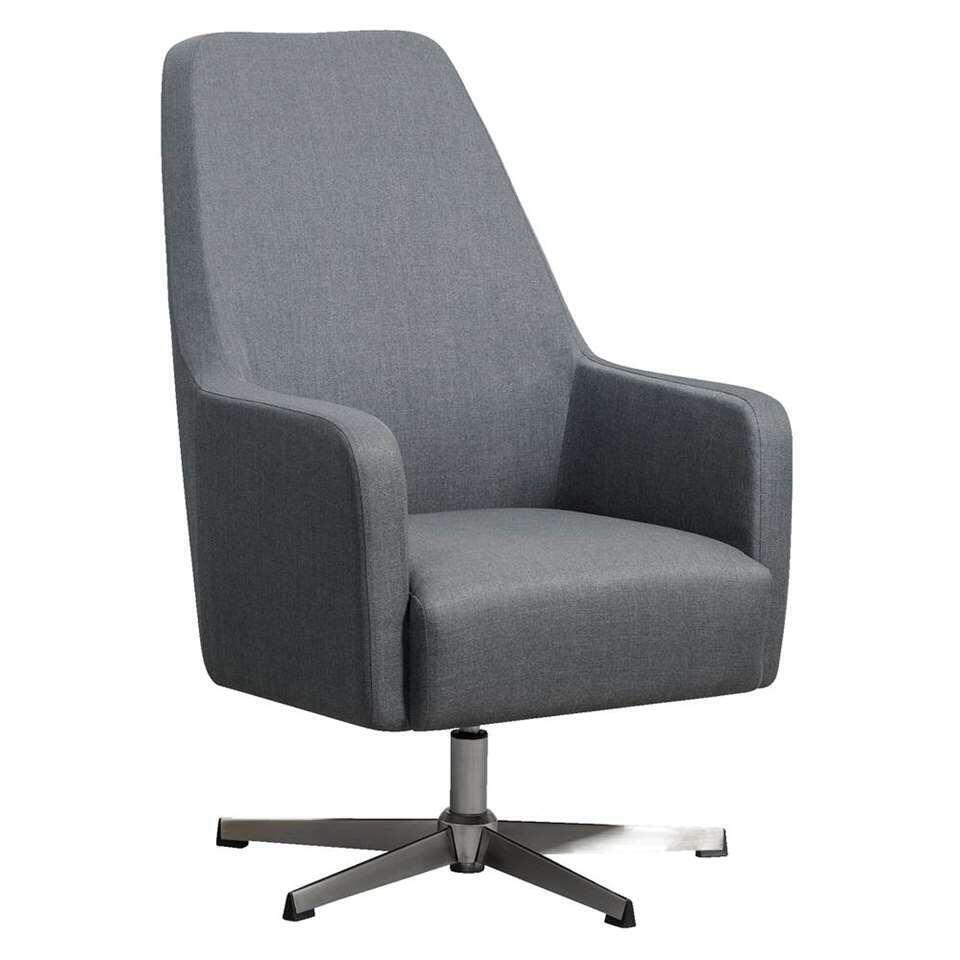 Fauteuil relax Osterbro Valby - tissu - gris foncé