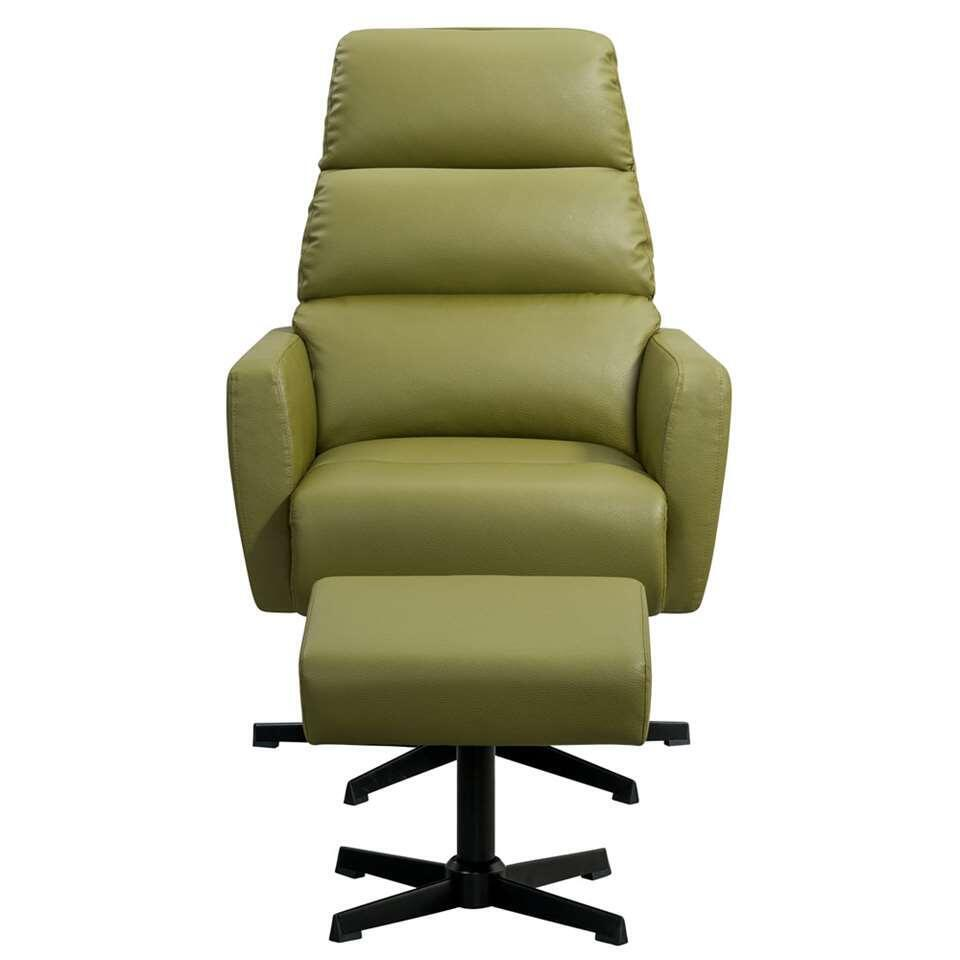 Fauteuil relax Vesterbro Valby - similicuir - vert olive