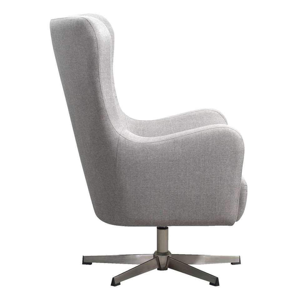 Fauteuil relax Norrebro Valby - tissu - taupe/argent