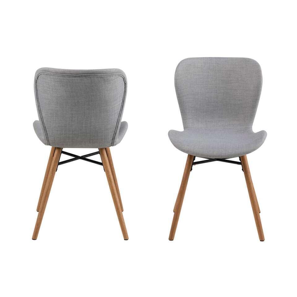 De Salle À Manger chaise de salle à manger helgum tissu rio - gris (2 pièces)