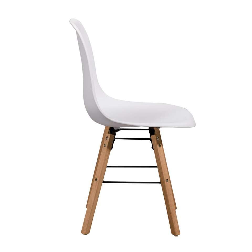 chaise de salle manger elena plastique blanche. Black Bedroom Furniture Sets. Home Design Ideas