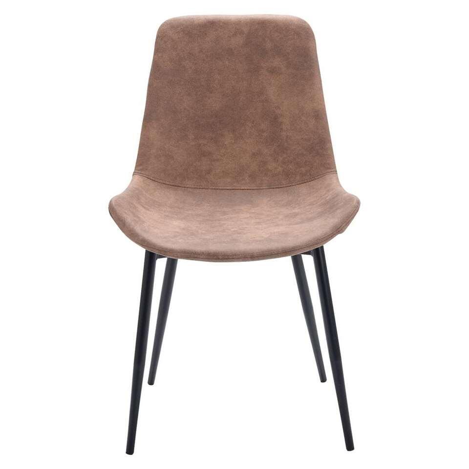 chaise norman tissu couleur moka. Black Bedroom Furniture Sets. Home Design Ideas