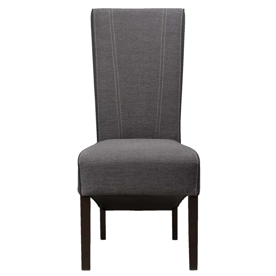 Chaise de salle à manger Verdi - tissu - gris anthracite