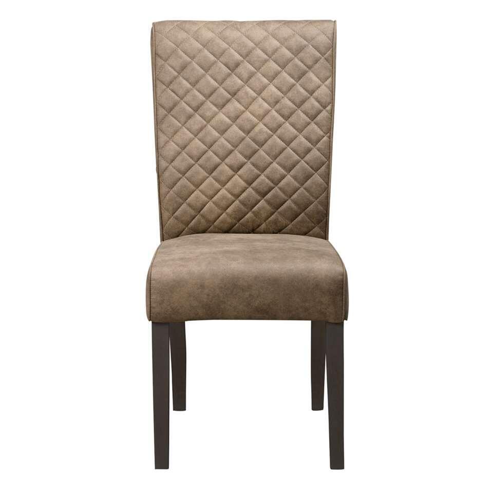 chaise de salle manger bono tissu taupe. Black Bedroom Furniture Sets. Home Design Ideas