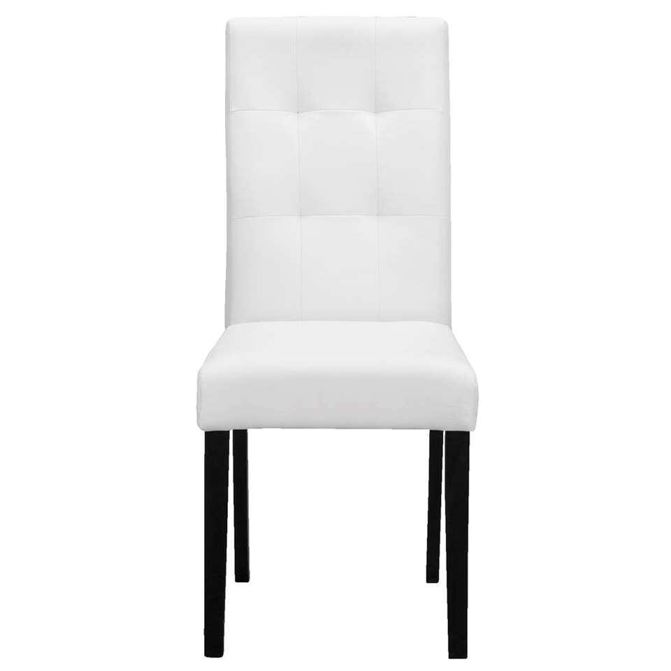 Chaise de salle manger salerno ska blanche - Chaise de salle a manger blanche ...