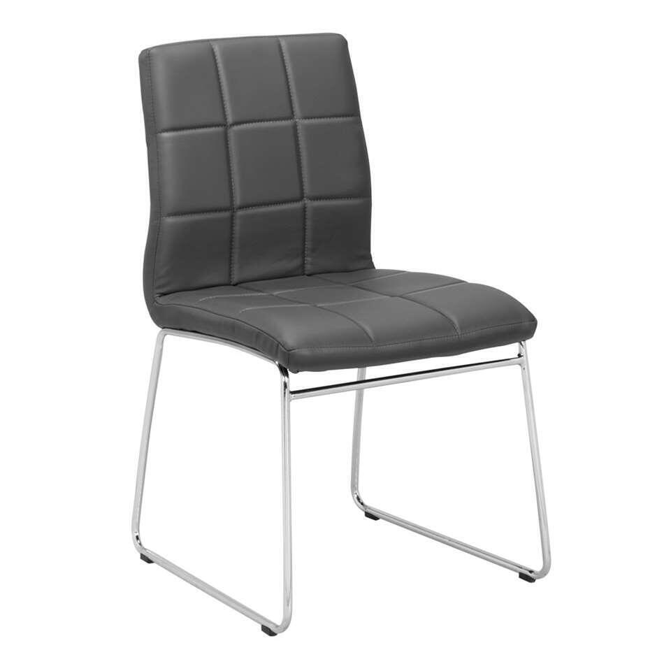 chaise de salle manger sydney tissu grise. Black Bedroom Furniture Sets. Home Design Ideas