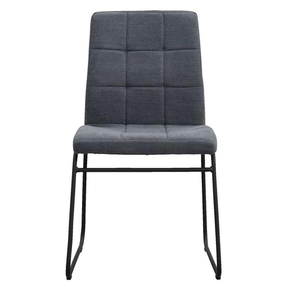 chaise de salle manger byron tissu gris. Black Bedroom Furniture Sets. Home Design Ideas