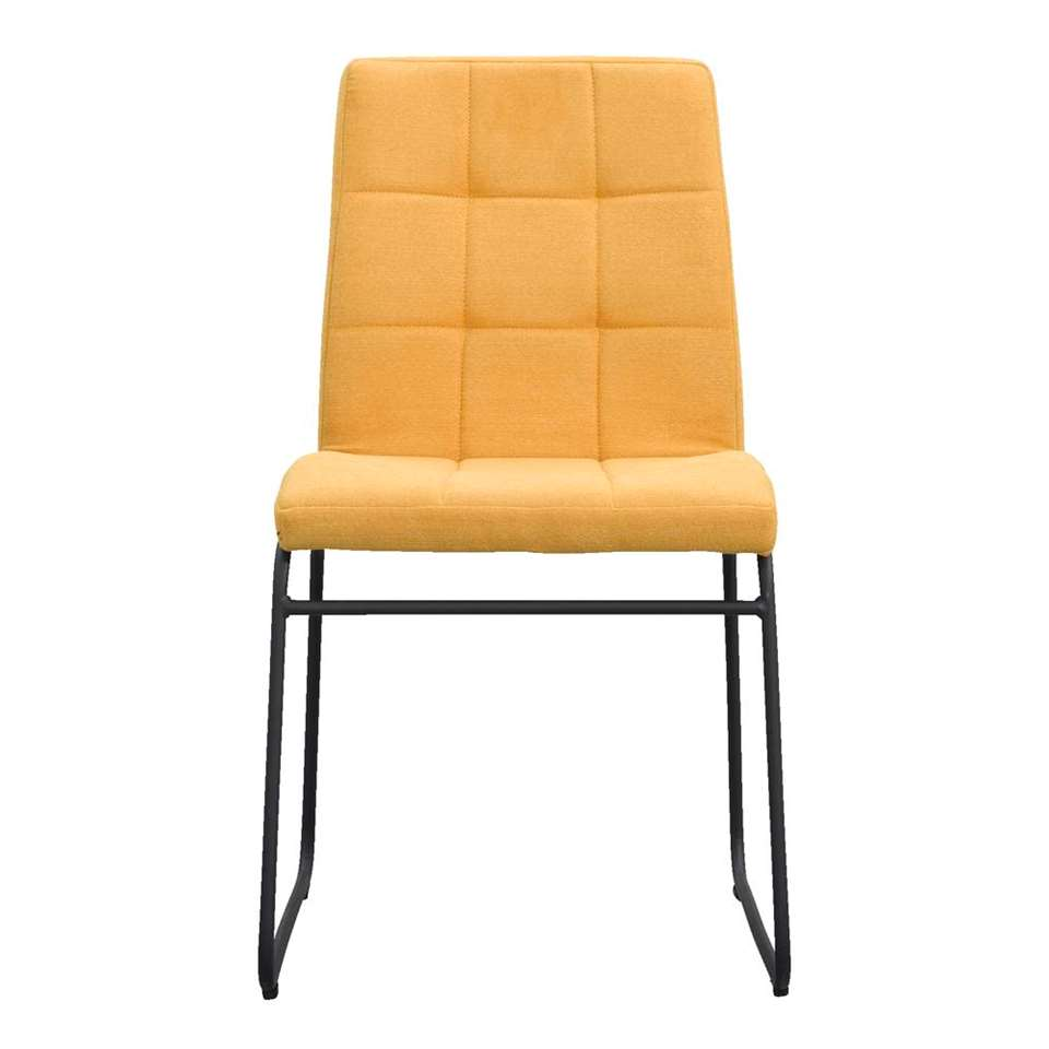 chaise de salle manger byron tissu jaune. Black Bedroom Furniture Sets. Home Design Ideas