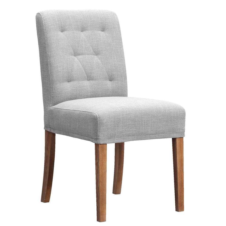 chaise mabel tissu grise. Black Bedroom Furniture Sets. Home Design Ideas