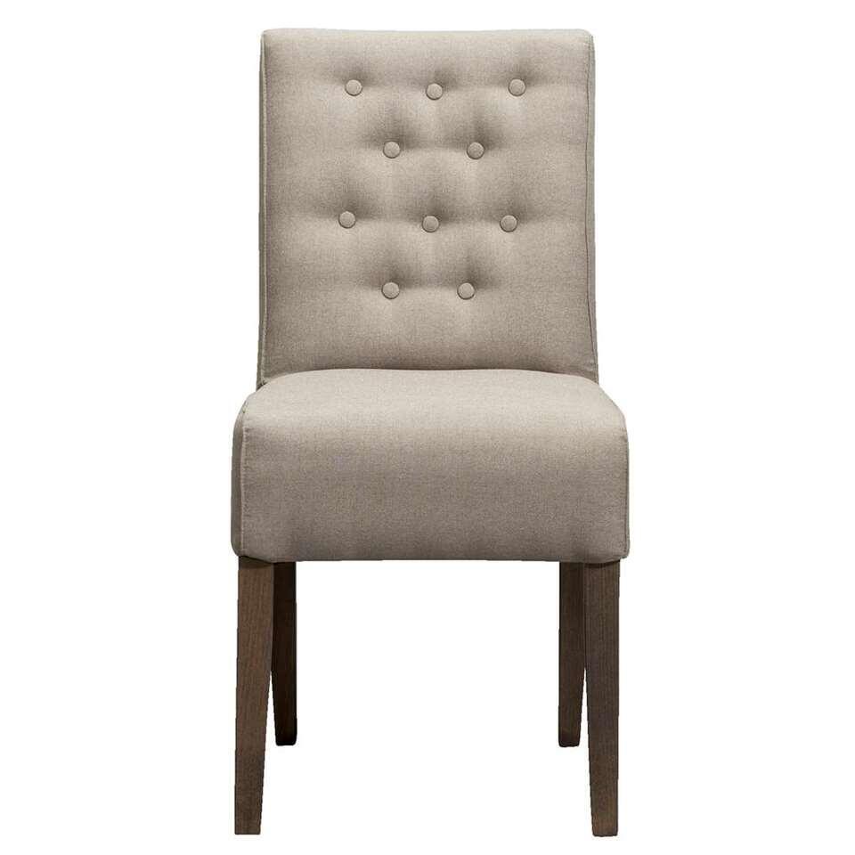 chaise de salle 224 manger scarlet tissu beige