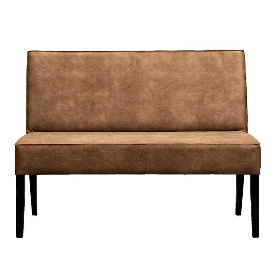 Canapé de salle à manger Casey - cuir couleur cognac - 125 cm