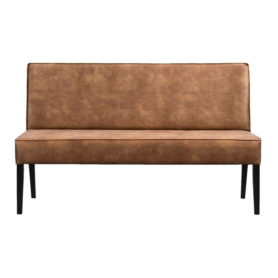 Canapé de salle à manger Casey - cuir couleur cognac - 180 cm