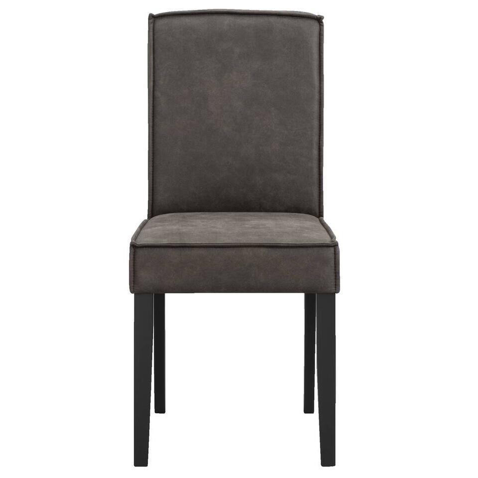 Chaise de salle à manger Roan - skaï - couleur anthracite