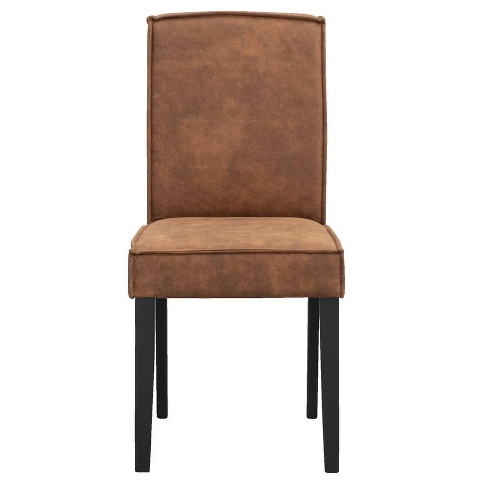 Chaise de salle à manger Roan - skaï - couleur cognac