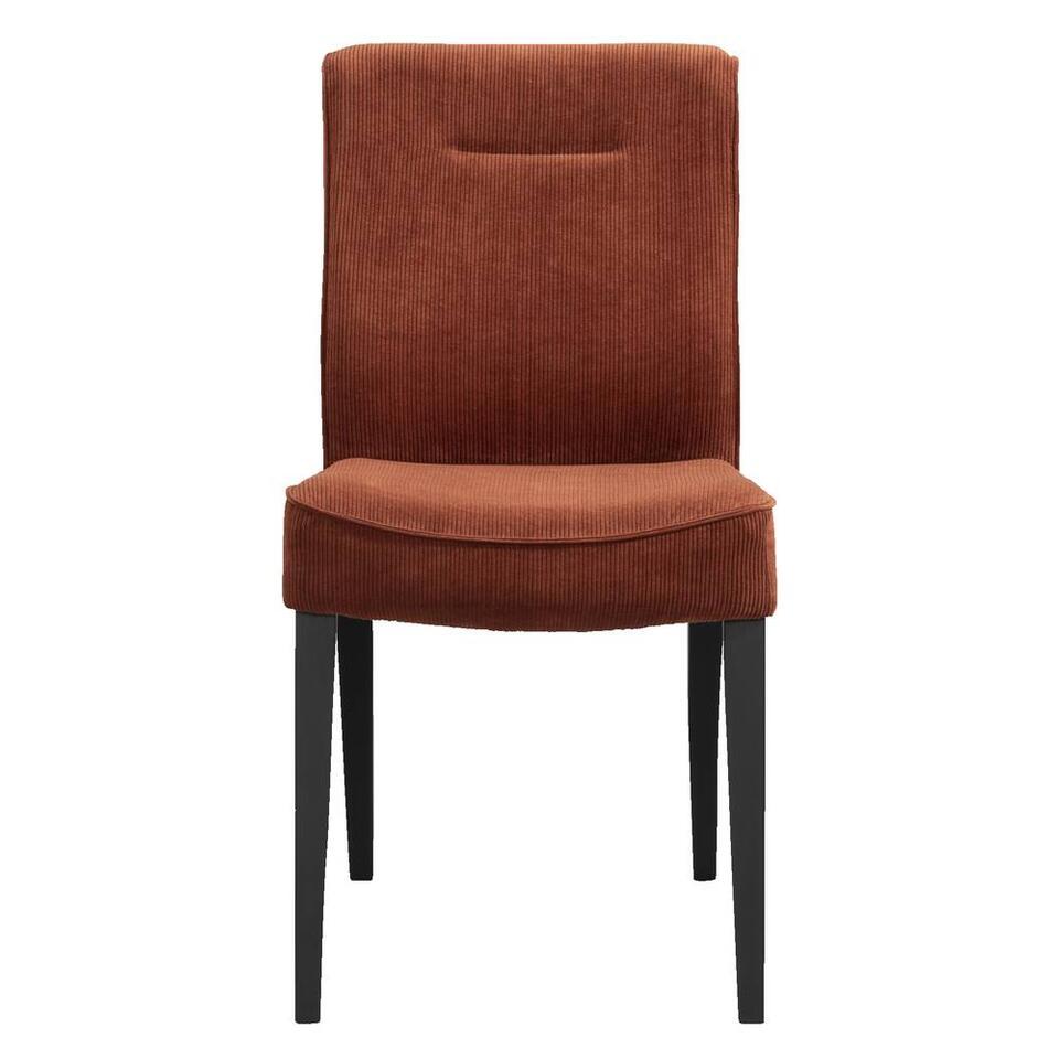 Tapis Salon Couleur Rouille chaise de salle à manger britt - tissu - couleur rouille