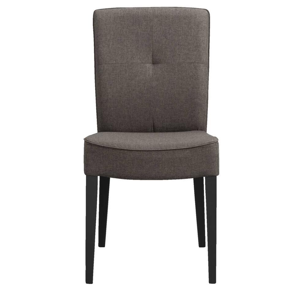 Chaise de salle à manger Romy - tissu - taupe
