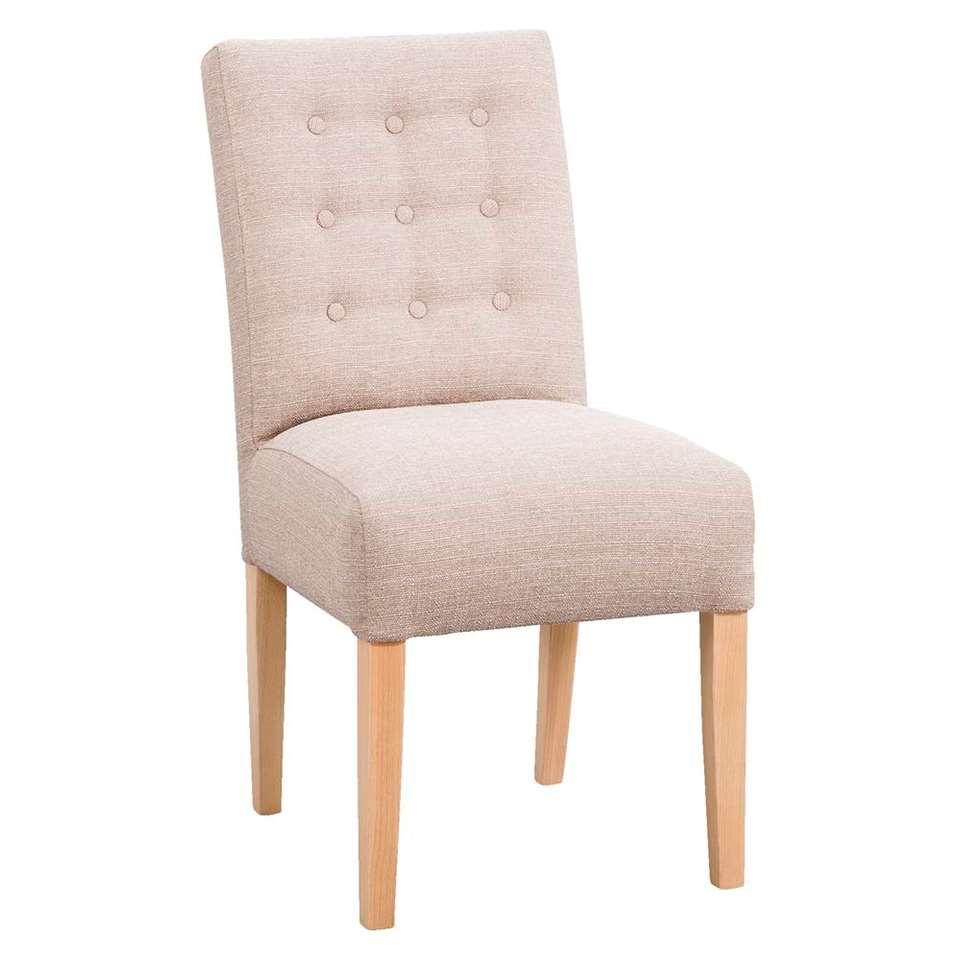 Chaise de salle à manger Claire - tissu - beige