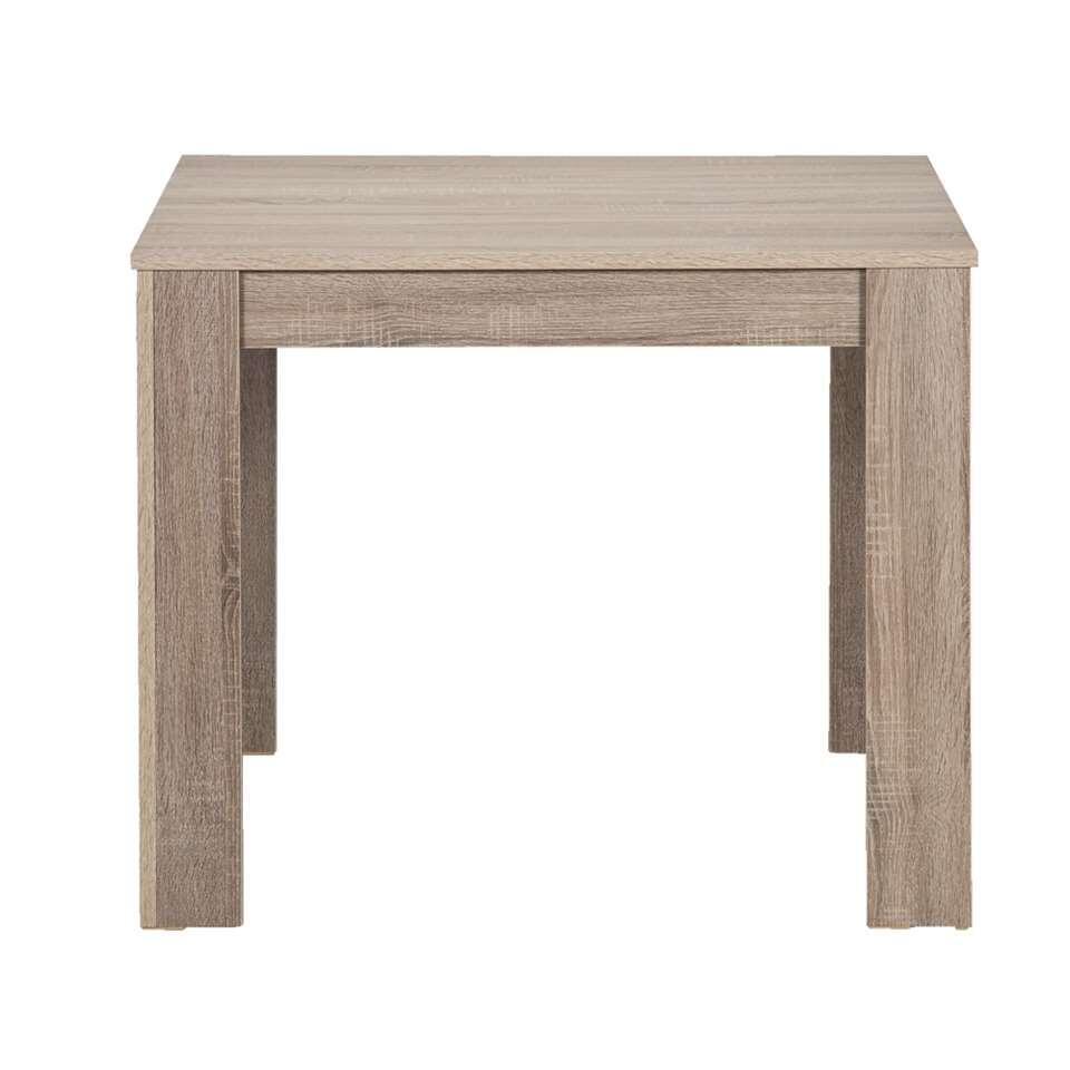 table sepp couleur ch ne fonc 75x90x90 cm. Black Bedroom Furniture Sets. Home Design Ideas