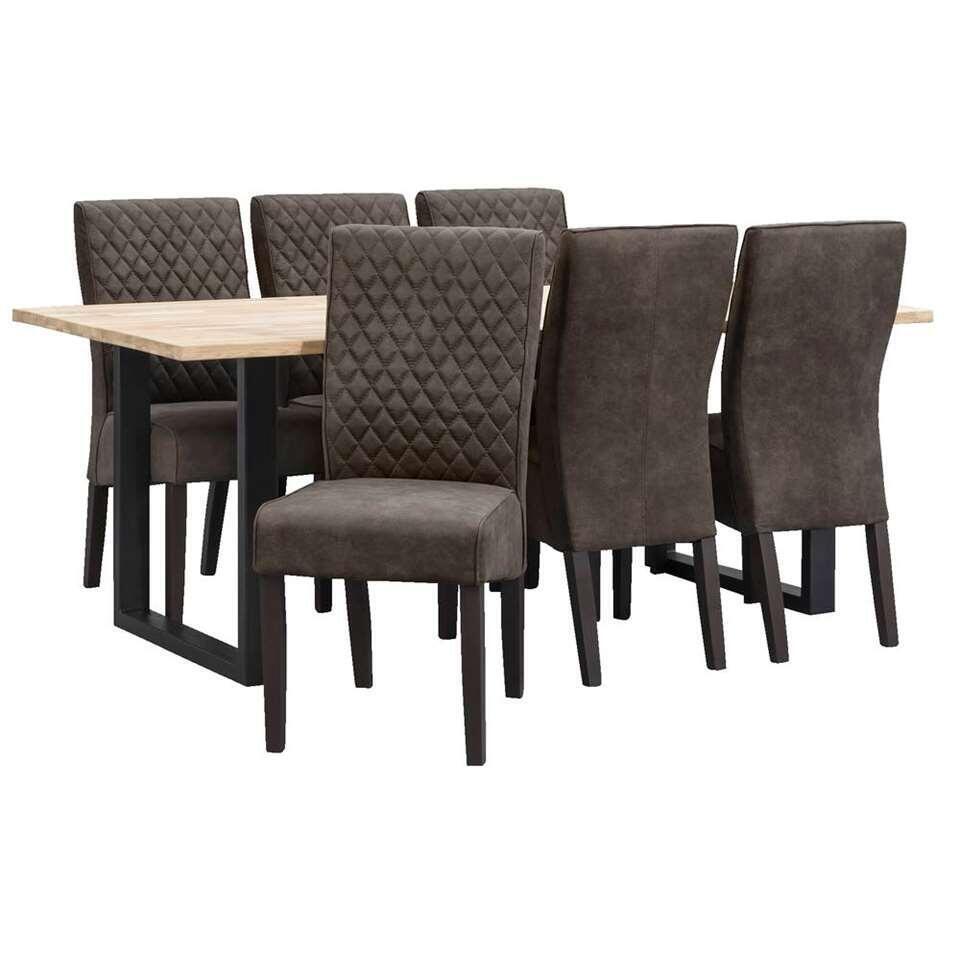 Chaise de salle à manger Bono - tissu - gris anthracite