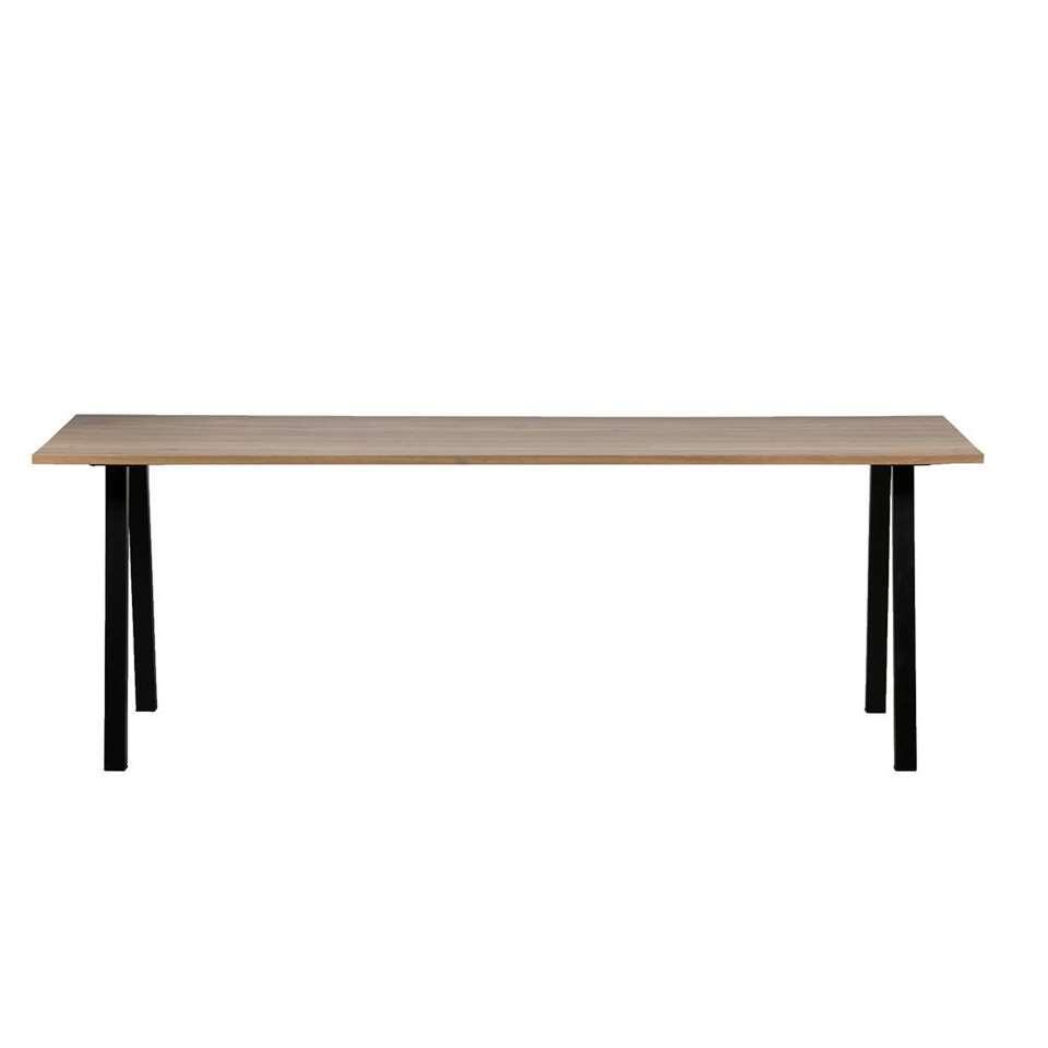 Woood table de salle à manger Blackburn - brune/noire - 74x200x90 cm