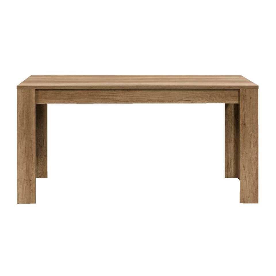 Table de salle à manger Lidia - couleur chêne - 75x180x90 cm