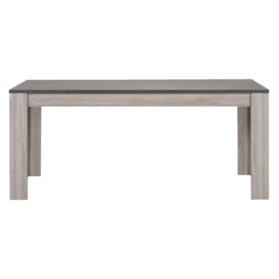 table de salle manger yannick couleur gris chneaspect pierre naturelle 79x160x90 cm