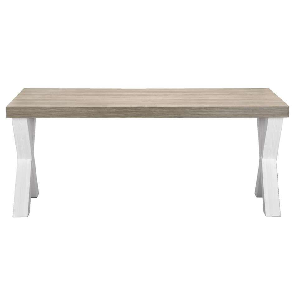 Table à manger Lynn - couleur chêne blanc - 77,5x184x102 cm