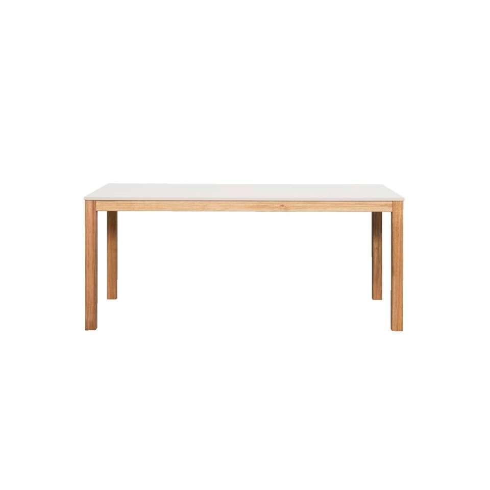table de salle manger valencia grise 75x160x90 cm. Black Bedroom Furniture Sets. Home Design Ideas