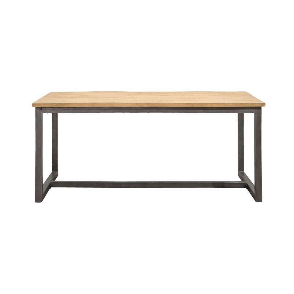 Table de salle à manger Logan - couleur naturelle/grise - 78x220x100 cm