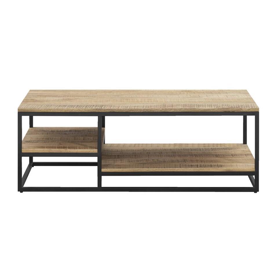 Table de salon Kyan - noire/couleur naturelle - 8x8x8 cm