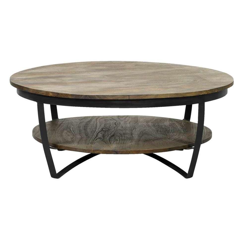 40x100x100 cm de Table brun salon Levi foncé zVqSUpMG
