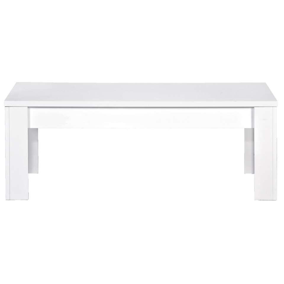 Salontafel Amalfi - hoogglans wit - 45x122x65 cm