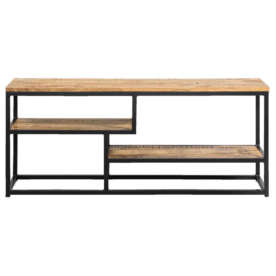 Tv-dressoir Kyan - zwart/naturelkleur - 50x120x35 cm
