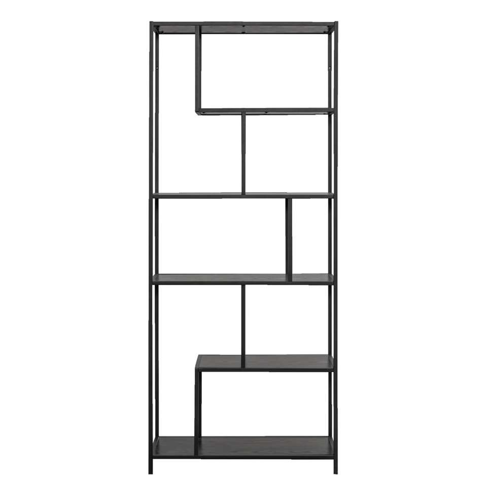 Boekenkast Jaxx - zwart - 185x77x35 cm