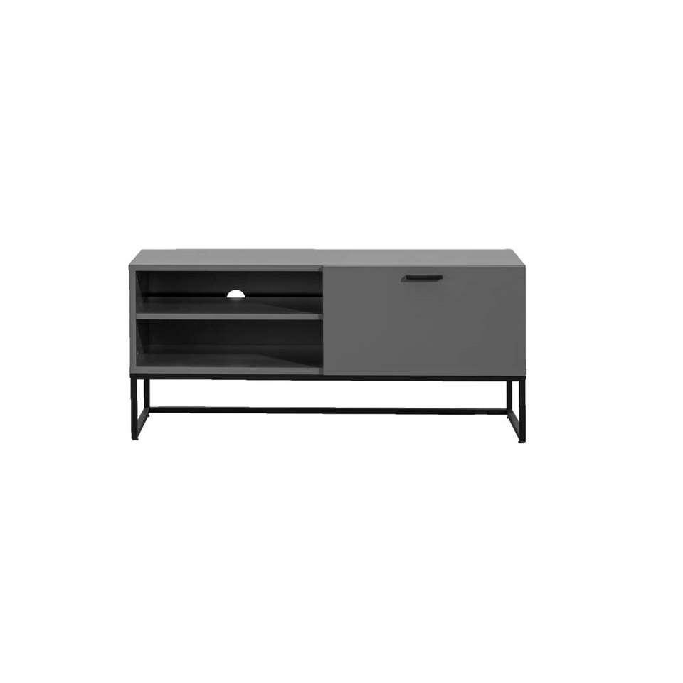 Tv-meubel Kioto - grijs - 58x118x43 cm
