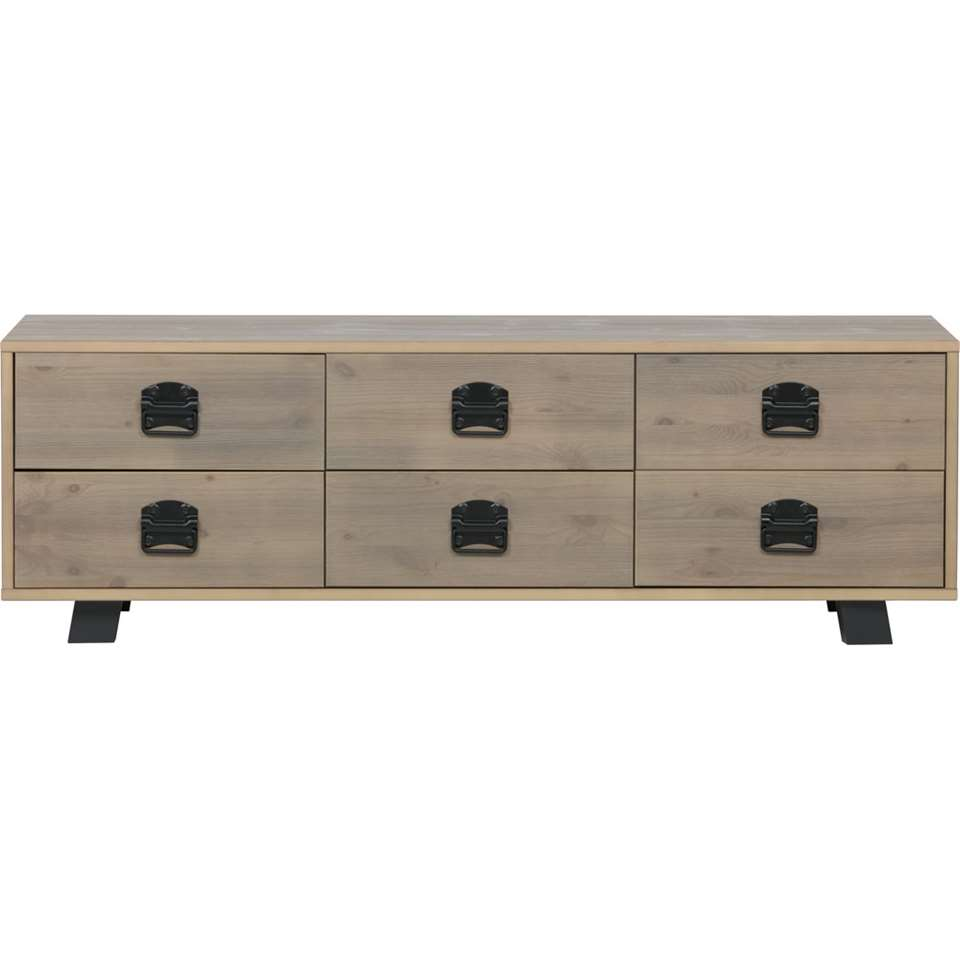 Woood dressoir Derby - gris fumé - 45x140x44 cm