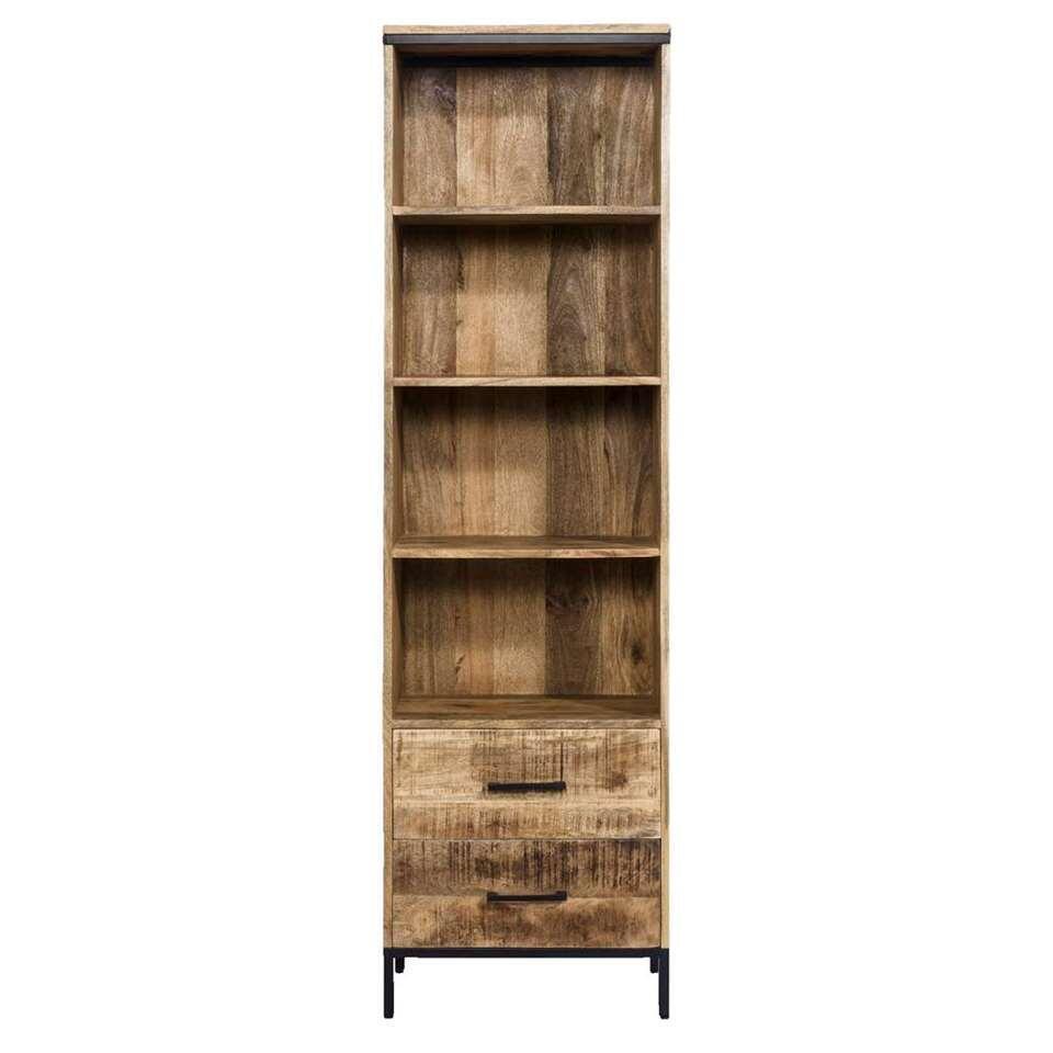 Boekenkast Trevor - bruin - 55x190x40 cm