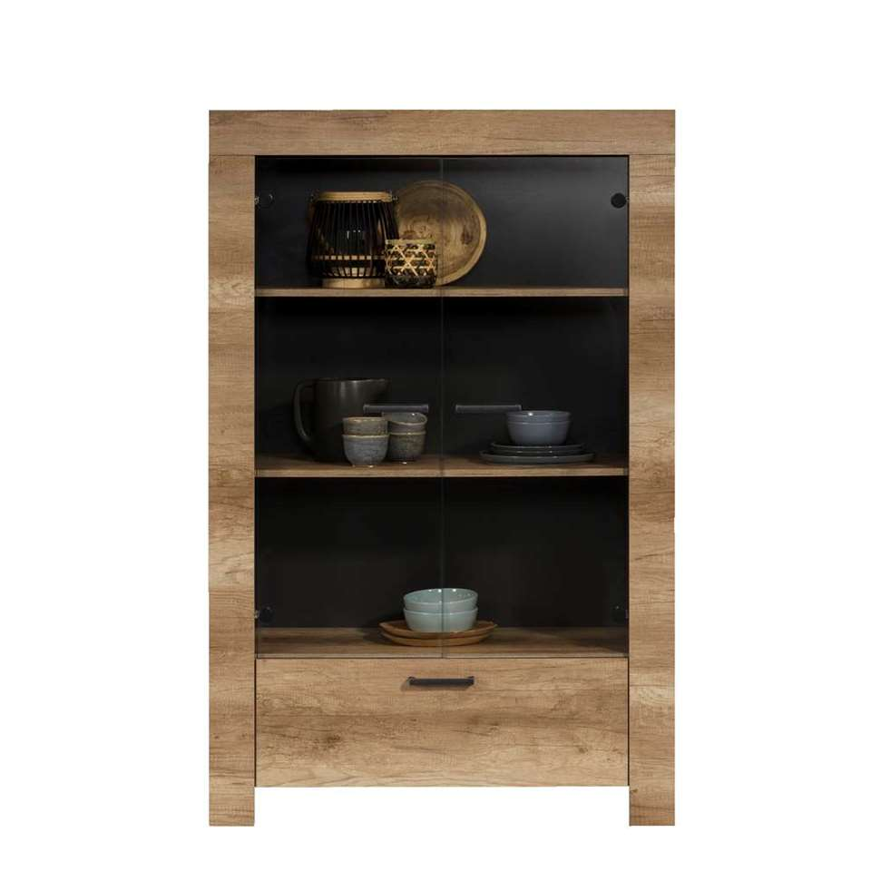 buffet lidia couleur ch ne 162x102x43 cm. Black Bedroom Furniture Sets. Home Design Ideas